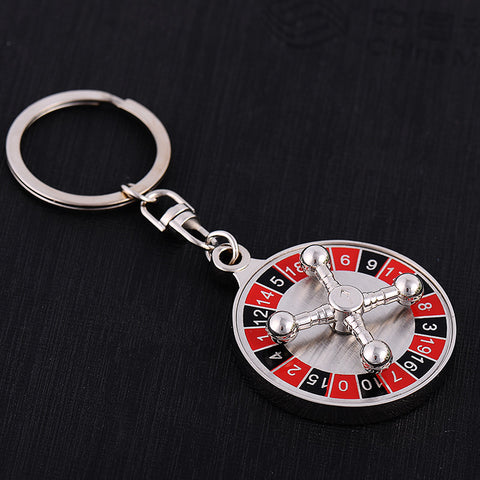 FREE Shipping Metal Casino Roulette Key Chain - casinomegastore