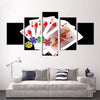 Image of PIN UP! Modular Art in HD 5 Piece Canvas Home Decoration Casino and Poker Girls - casinomegastore