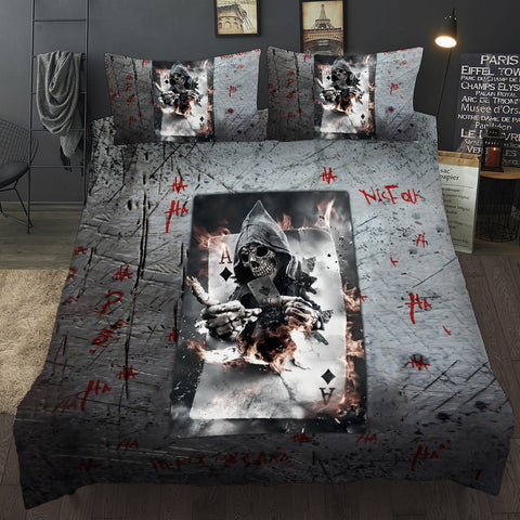 Gambler God Skull Bedding Sets queen size