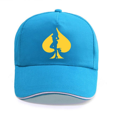 Poker Print Cotton Baseball Caps for Men women