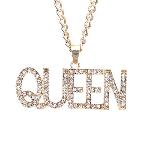 Queen Pendant Necklaces Women