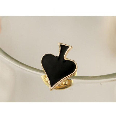 Modern Metal Playing Card Small Brooch Collar