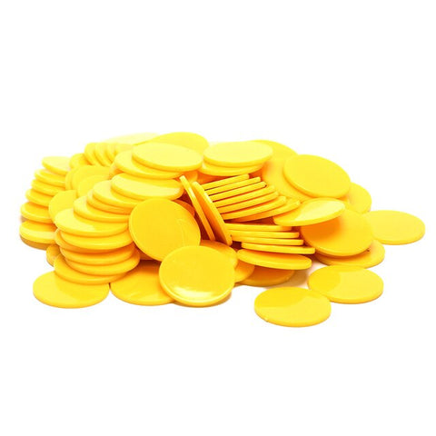 100Pcs/Lot 25mm Plastic Poker Chips Casino Bingo