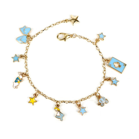 Poker Rabbit Bow Tie Star Metal Chain Braclet Women Charm Jewelry