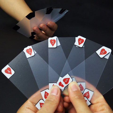Transparent Plastic Waterproof Poker Playing Cards