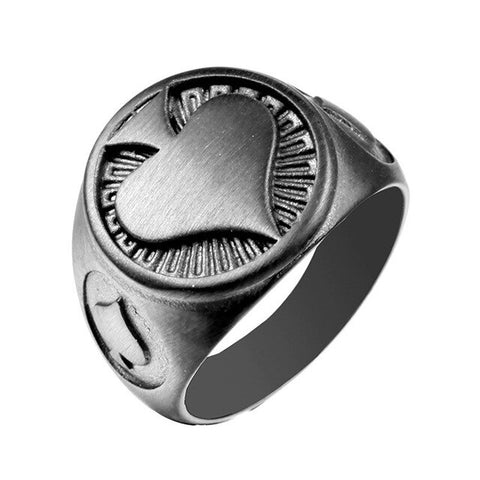 Spade Heart Ring 316L Stainless Steel Jewelry
