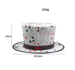Magic Props Classic Magic Tricks Poker Pattern Folding Spring Magic Hat