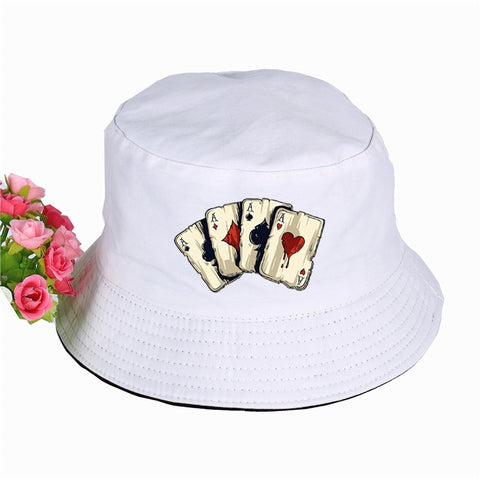 Interesting Poker Spades A Printed Bucket Hats