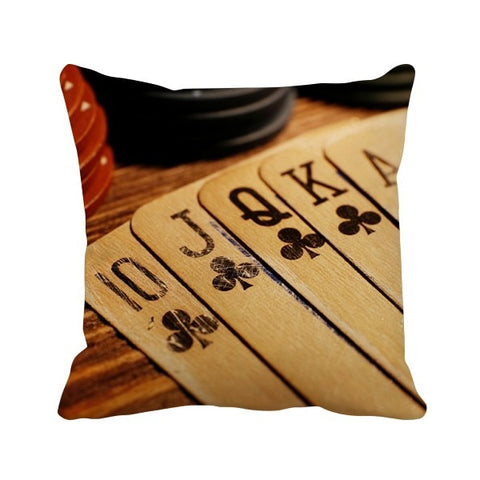 Old Poker Chip Photo Throw Pillow Square Cover