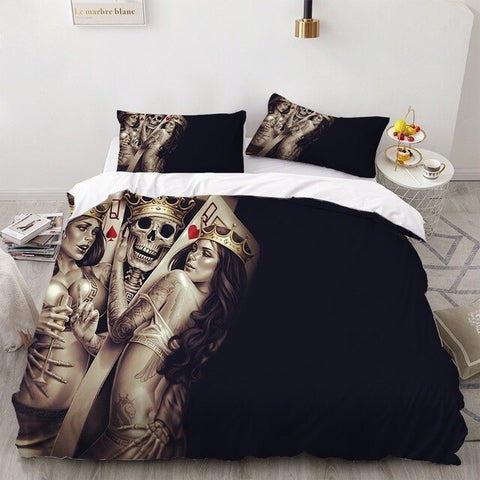 Bedding Set 3 Piece Entertainment Soft Duvet Cover