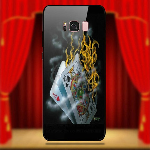 Tempered Glass Mobile Phone Cases for Samsung Galaxy