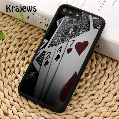 Krajews playing card Retro Poker Phone Case Cover For iPhone 5s 6s 7 8 plus X XS XR 11 pro max Samsung Galaxy S7 S8 S9 S10 Plus