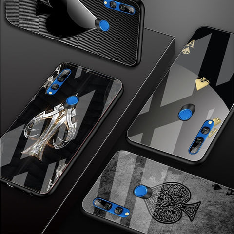 Ace Family Poker Tempered Glass Phone Case For Huawei
