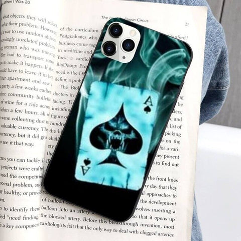 Ins Style Psychedelic Poker Phone Case For Iphone