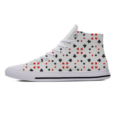 Playing card Poker Lightweight Breathable 3D Print Men women Sneakers