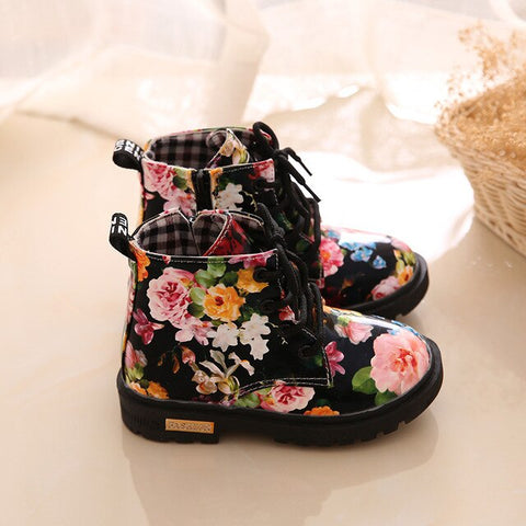 Rain Boots Waterproof Printing Poker Lattice Shoes