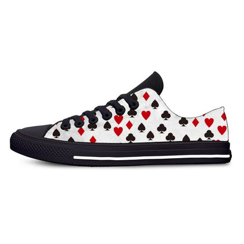 Poker Novelty Canvas Shoes