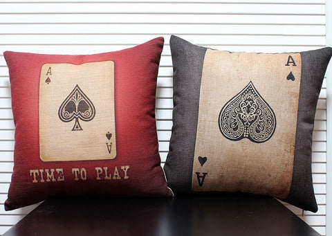CREATIVE! Poker Pattern Throw Pillow Cover Cushion Cover - casinomegastore