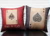 Image of CREATIVE! Poker Pattern Throw Pillow Cover Cushion Cover - casinomegastore