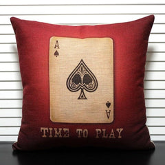 CREATIVE! Poker Pattern Throw Pillow Cover Cushion Cover