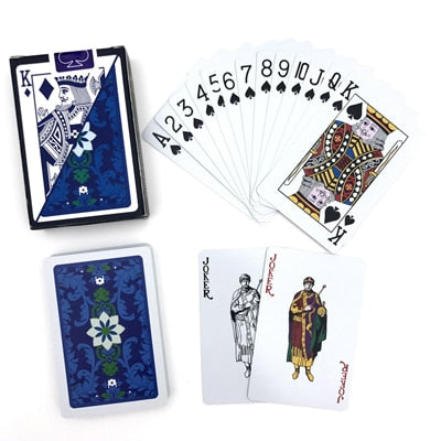 New 2 Sets/Lot pattern Baccarat Plastic Waterproof Playing Card Game - casinomegastore