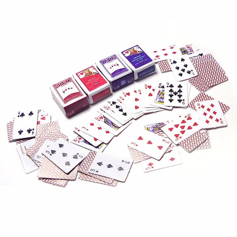 Cute Miniature Dollhouse Cute Mini Poker Playing Cards - casinomegastore