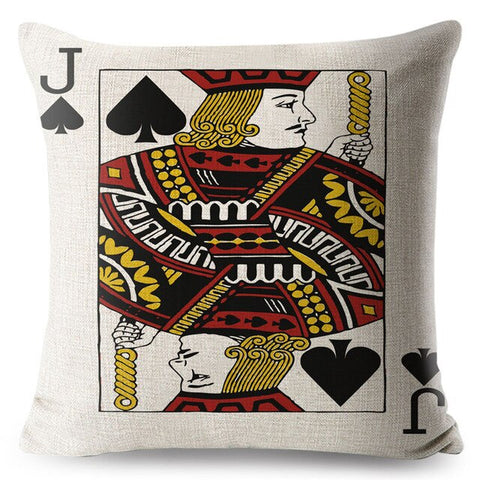 Poker King Queen and Jack Pillow Case
