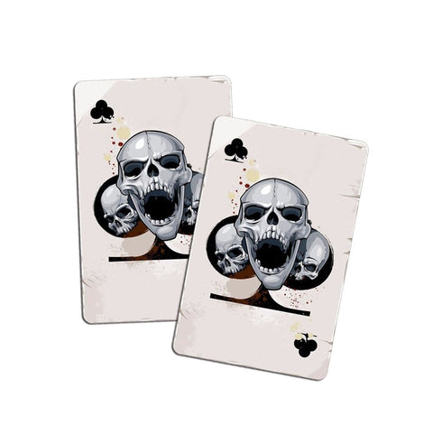 Accessories Poker Skull Head Decal Car Sticker - casinomegastore