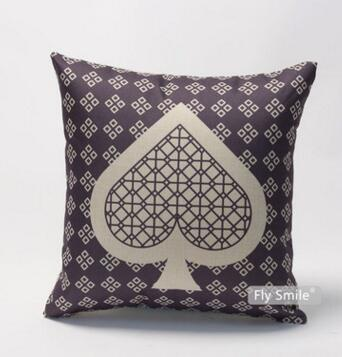 Poker element printed cushion cover