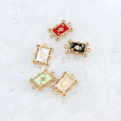 20pcs/lot Mini Poker A Charms Pendant