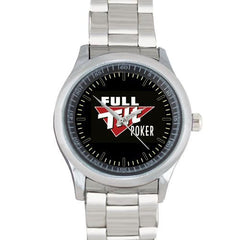 RARE, FULL TILT POKER Stainless Steel WATCH Perfect FIT! - casinomegastore