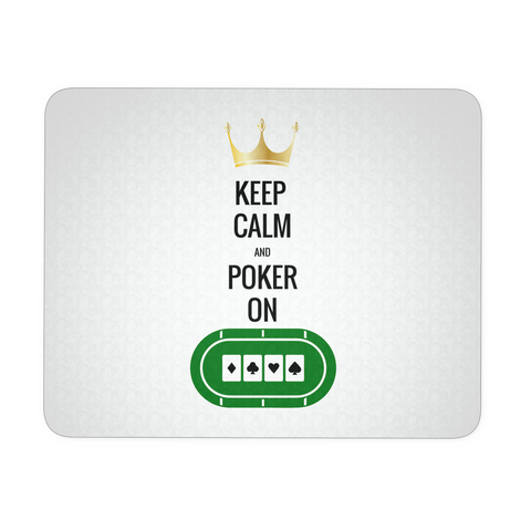 Cool Gift! Keep Calm & Poker On! Mouse Pad - casinomegastore