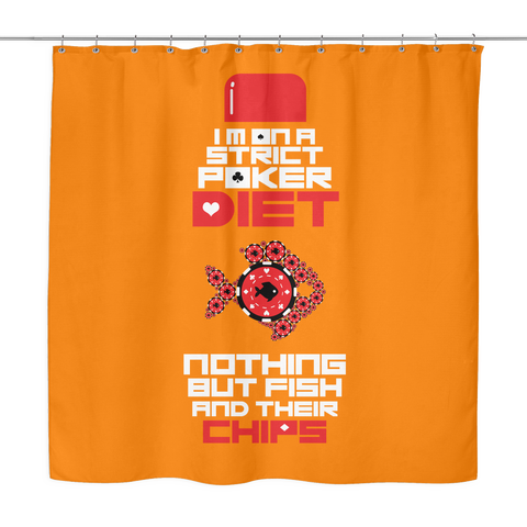 The POKER LIFESTYLE! High Quality, Poker Themed Bathroom Shower Curtain - casinomegastore