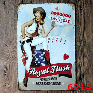 Retro Las Vegas Metal Bar Sign Wall Decor Metal Sign - casinomegastore