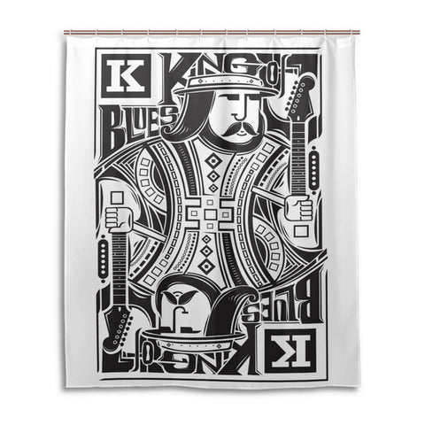 King! Shower Curtain For Casino Theme Bathroom Playing Card - casinomegastore