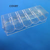 Image of 100 Piece Chip Rack Case With Covers Transparent for Casino Games Poker Baccarat