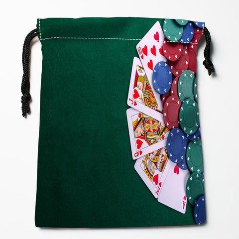 BEST! Poker Drawstring Bags Custom Storage Printed Bag for Books Papers Toiletries More - casinomegastore
