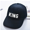 Image of KING QUEEN Novelty Printed Couples Caps Men Women & Partners in Casino Gaming - casinomegastore