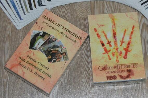FIRE AND ICE! Game of Poker Thrones Playing Card Sets Poker Blackjack Collectors - Two Types!