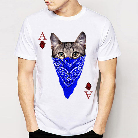 BEST SELLING! Printed Heart Ace Animal Casino Gaming T-Shirt - casinomegastore