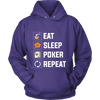 Image of PERFECT FIT! Eat, Sleep, Poker, Repeat Unisex Sweatshirt HOODIE - casinomegastore