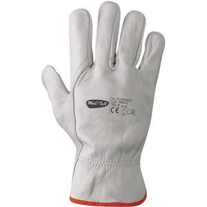 Gloves for Work Leather Cowhide be protected with grip and comfort, Lot x3 x12