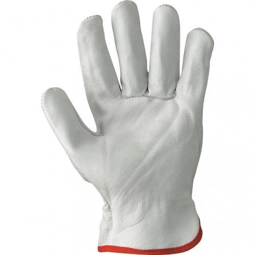 Gloves Genuine Leather Cowhide Comfort Grip Driver Lift Work DIY Safety Man Sizes  L, XL, XXL