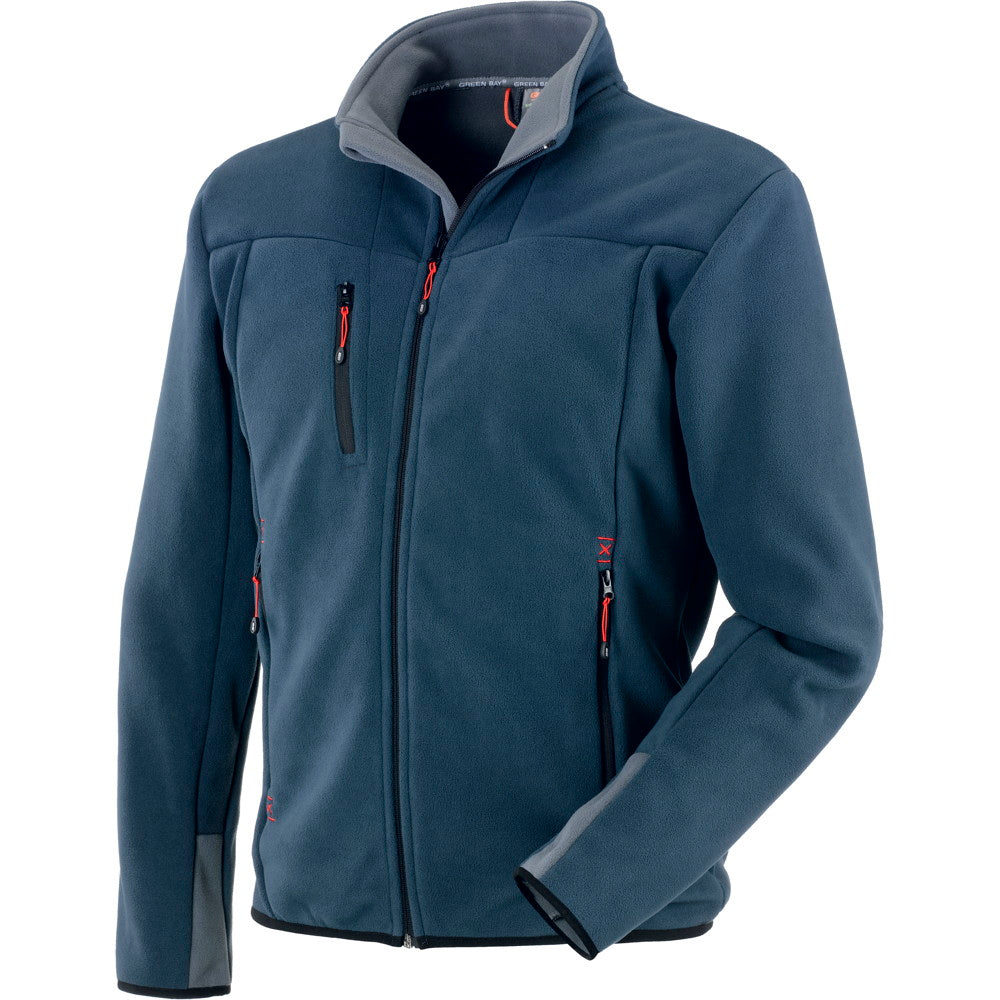 Fleece Jacket Man Warm Full Zip Pockets Training Work Sweatshirt Comfy