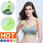 Bra Padded Push Up for Sport Gym Fitness Tops Wirefree Night Body Shape
