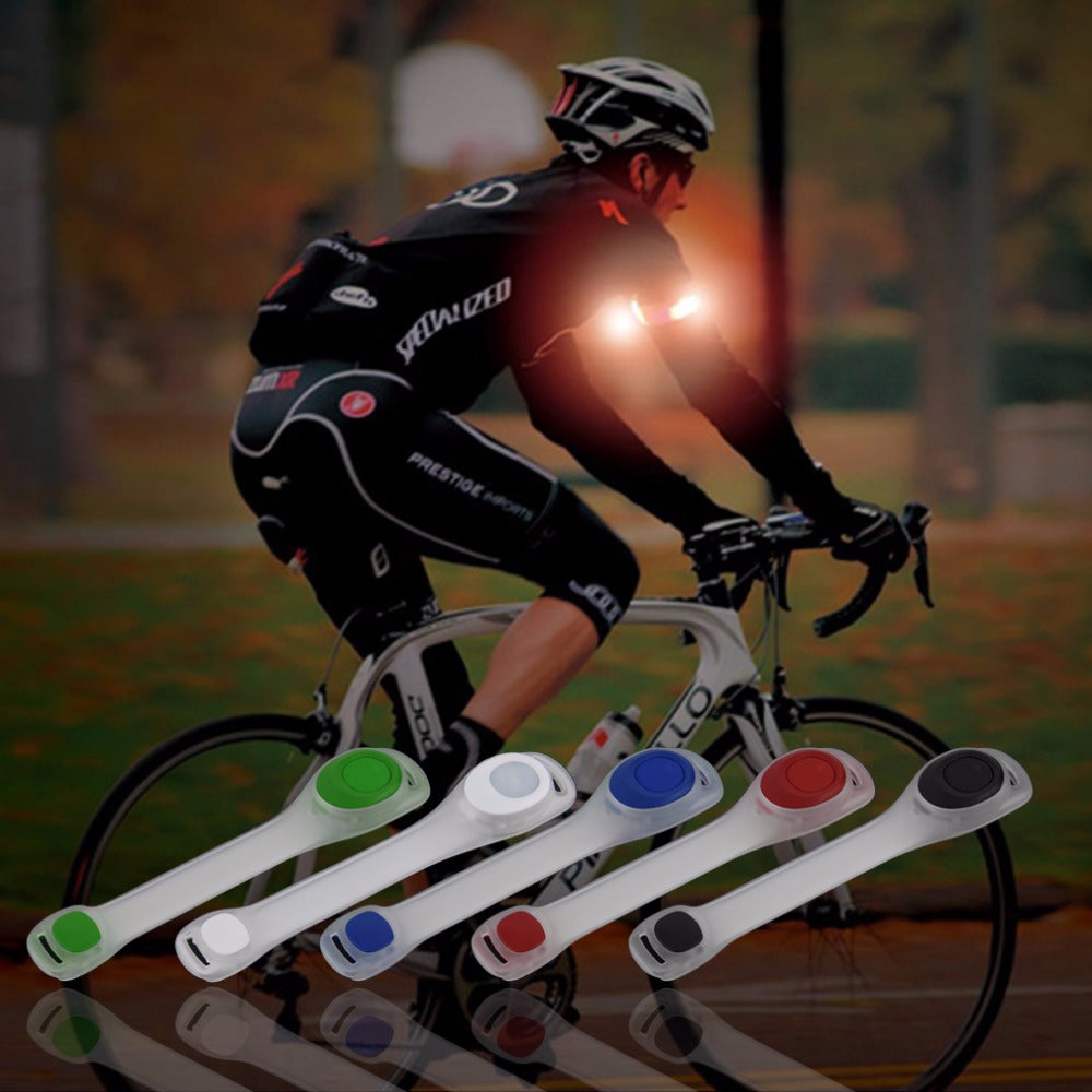 Safety LED Light Belt Arm Reflective Adjustable Running Cycling with Battery