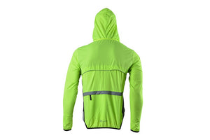 Jacket Hooded Vest Windcoat Reflective Long Sleeve Quick Dry Cycling Running Jogging Bicycle