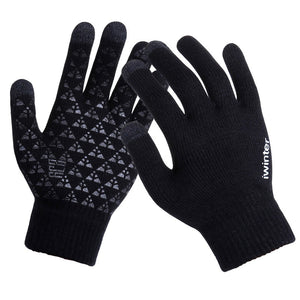 Gloves anti-skid Men Women Warm Wool Touch Screen 2 sizes Sport Casual 4 colours