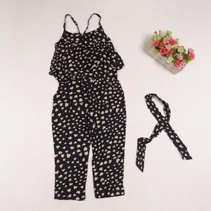 Kids Girls Love Heart Straps Rompers Jumpsuits Piece Pants Clothing