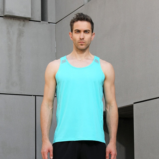 Vest Running Gym Sleeveless Shirt Tank Technical equipment Man EU size Sport Top